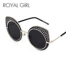 Load image into Gallery viewer, Royal Girl Fashion Cat Eye Sunglasses Women Brand Designer Retro Steampunk Female Sun Glasses oculos de sol feminino UV400 ss142