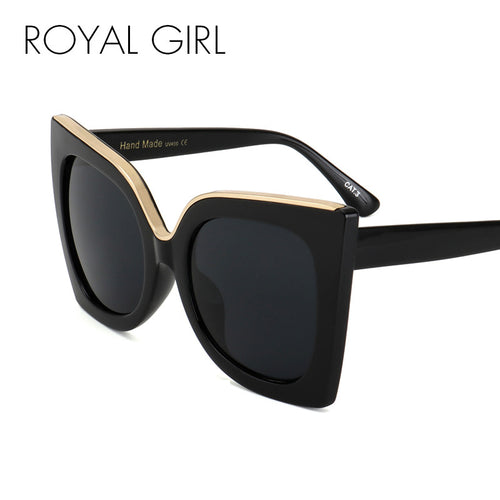 ROYAL GIRL Women Sunglasses Newest Vintage Gradient Lens Acetate Frame Brand Design Sun Glasses Oculos De Sol UV400 SS668