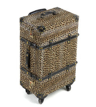 Load image into Gallery viewer, Diva Girl Leopard Print Luggage