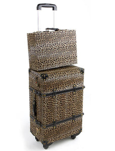 Diva Girl Leopard Print Luggage