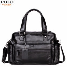 Load image into Gallery viewer, VICUNA POLO Large Capacity Men Leather Travel Bag Casual High Quality With Front Pocket Luggage Duffle Bag Handbag Shoulder Bag
