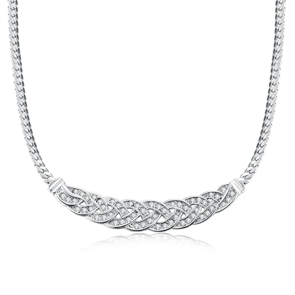 Diva Girl 18K White Gold Necklace