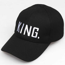 Load image into Gallery viewer, King and Queen Snapback Baseball Cap Men Women Black Dad Hat Hip Hop Lover Couple Caps Adjustable Casual Sport Sun Visor Hats
