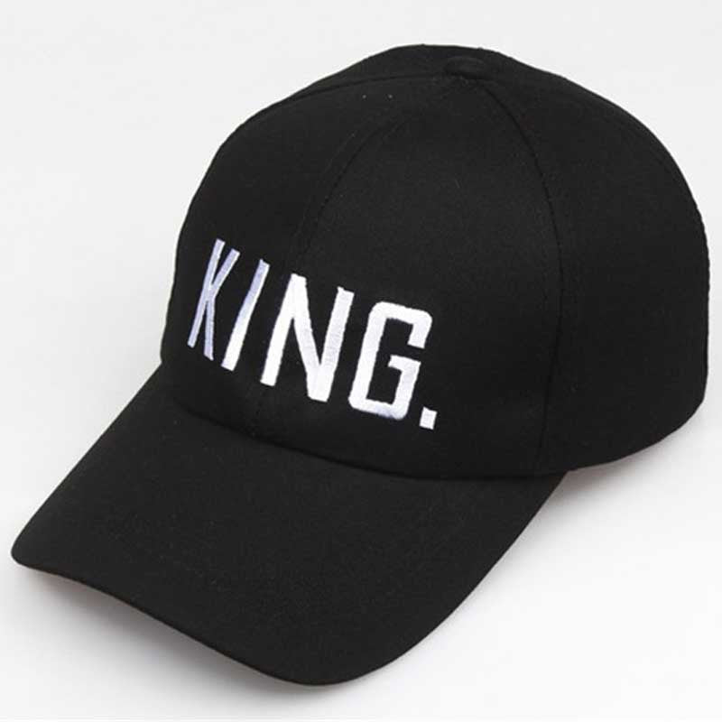 King and Queen Snapback Baseball Cap Men Women Black Dad Hat Hip Hop Lover Couple Caps Adjustable Casual Sport Sun Visor Hats