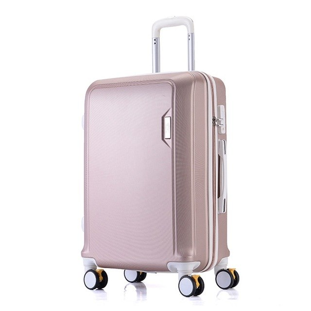 Women Rolling Luggage ABS Plastic Suitcases Travel Luggage Bgs Fashion Durable Convenient Trolley Bag with Spinner Wheel