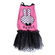 Load image into Gallery viewer, Pet Puppy Dog Clothes Summer Rabbit Dress Cotton Dog Skirt Pets Vest Skirt Pet Clothes