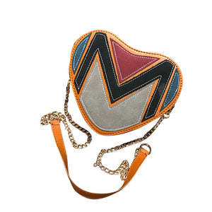 Diva Girl Heart Shaped Shoulder Bag