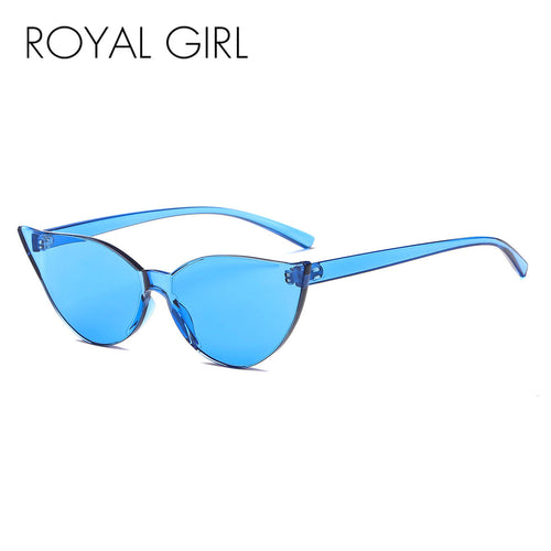 Royal Girl 2018 New Cat Eye Conjoined Colorful Sunglasses Europe And America Candy Color Sunglasses ss003