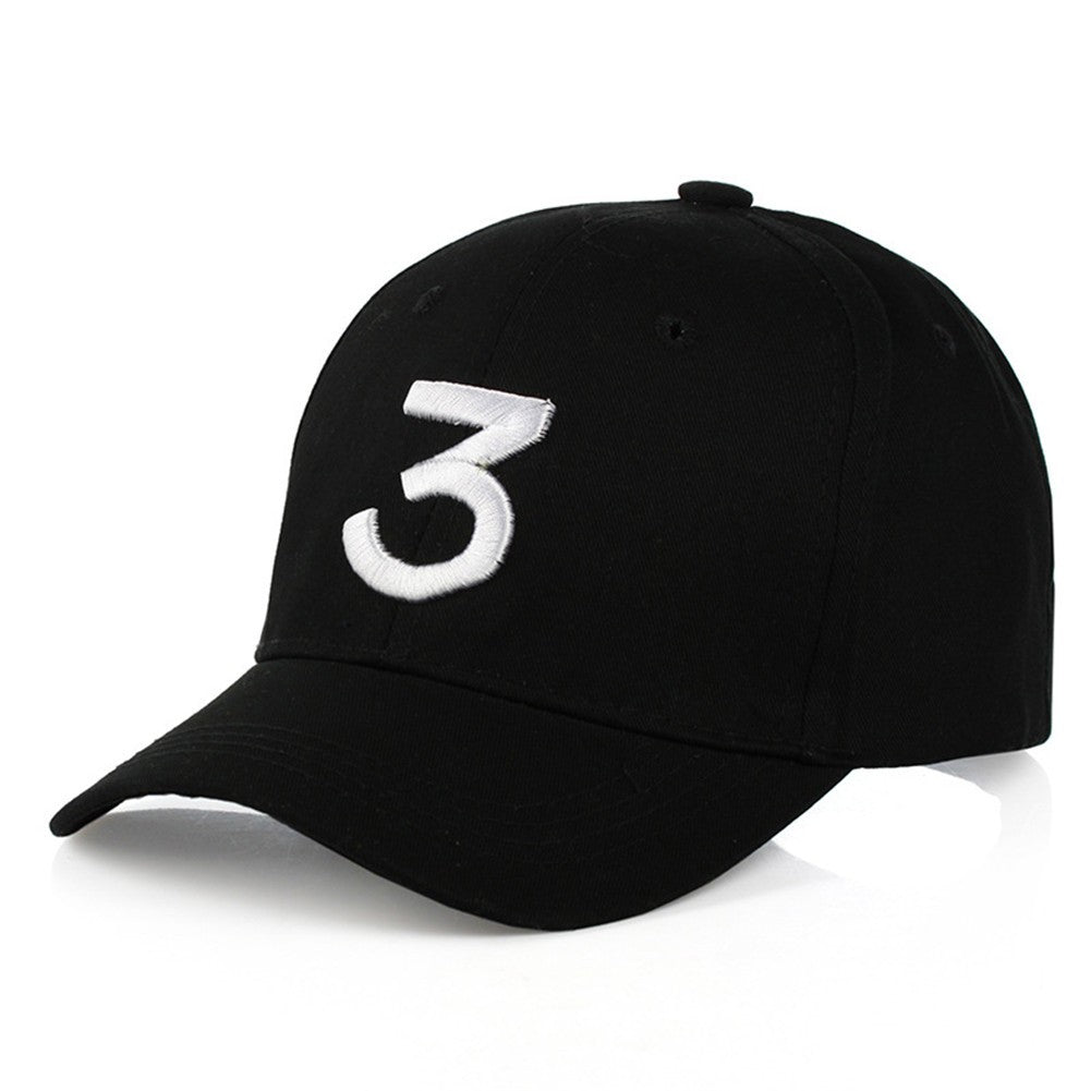 New Arrival Men and Women Hat Number 3 Embroidery Hip Hop Adjustable Baseball Cap