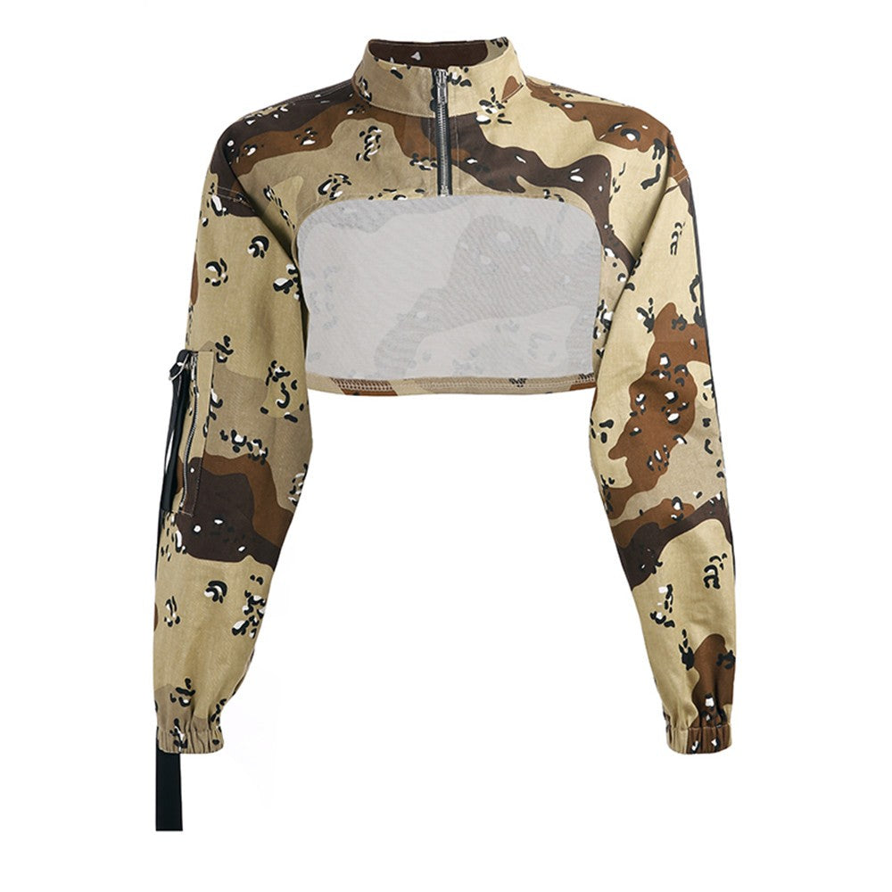 malianna Autumn Spring 2018 Women Casual Camouflage Pullovers