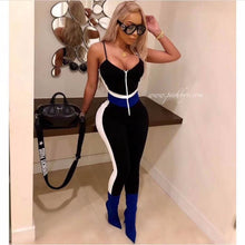 Load image into Gallery viewer, DEIVE TEGER  Summer Women Evening Party None Decoration Solid Sexy Night Full Length Jumpsuits Club Bodycon Bandage HL3417