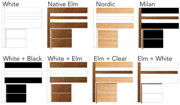 Timber bunk bed colours