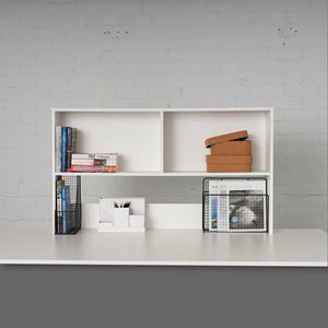 White Bookcase to fit bench desk.