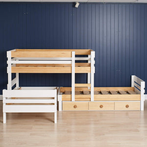 Low height 3 bed bunk, plus under bed storage drawers