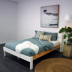 Double bed in Nordic Finish