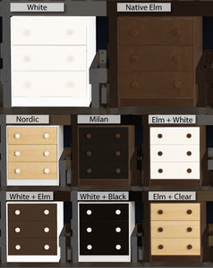 LoLine storage chest finishing options