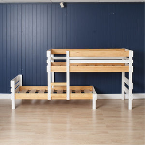 Low height longwall bunk bed only - top bed to the right illustrating bunk assembles either direction.