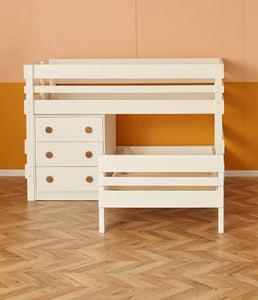 alt direction Low height L shaped bunk bed with storage drawers chest