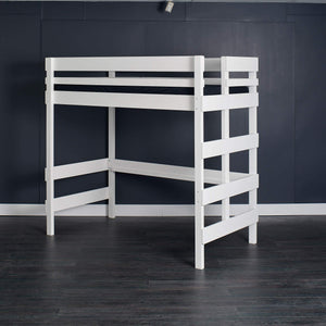 King Single Loft bed pictured independent of queen bed.