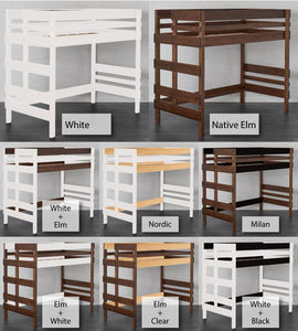 Mid Height Loft Bed finishing options