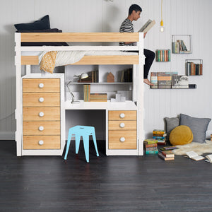 Loft Bed Bench-Desk Space Saver