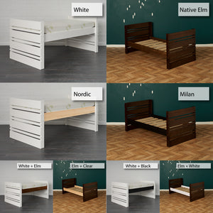Captain bed finishing options