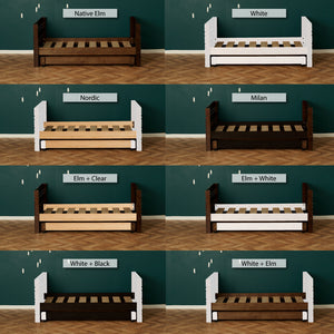 Captain Bed with trundle bed finishing options