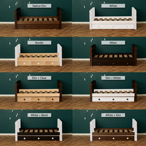 captain bed with under bed storage finishing options