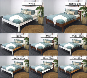 Double Bed or Queen Bed finishing options