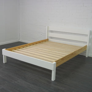 Double Bed with exposed slat base pictured