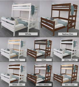 Loft Bed over Double Bed finishing options
