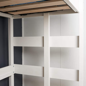 Internal view Loft bed ladder in white