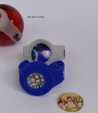 2 pack cabochon bowl savers(save-a-bowl) for smoking pipes with Free Christmas cabochon