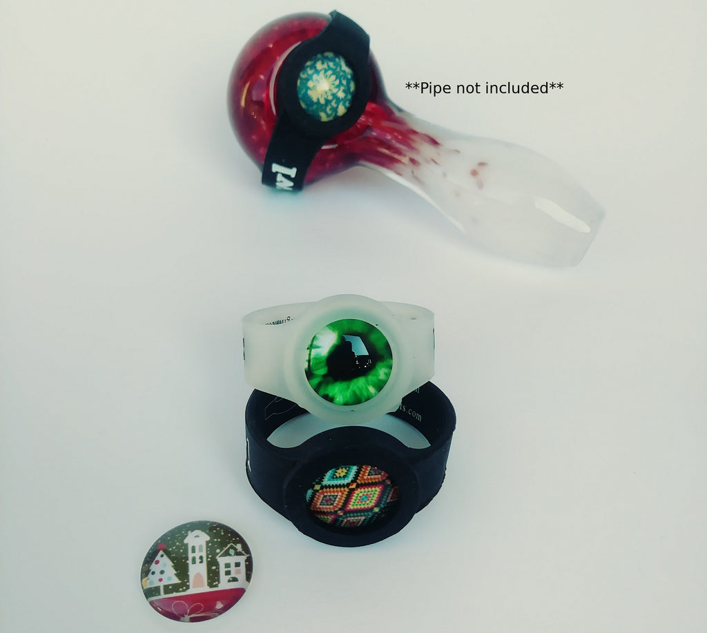 2 Pack Cabochon bowl savers for pipes(save-a-bowl) Free Christmas cabochon