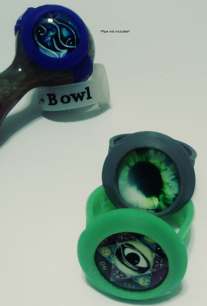 2 pack eyeball cabochon bowl saver(save-a-bowl) for smoking pipes