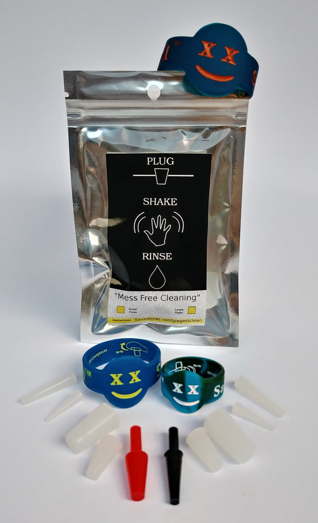 3 pack 3 size save a bowl savers for smoking pipes(save-a-bowl)Plus plugs