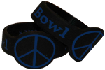 2 Pack Black & Blue Peace Save-a-Bowls for Glass Pipe