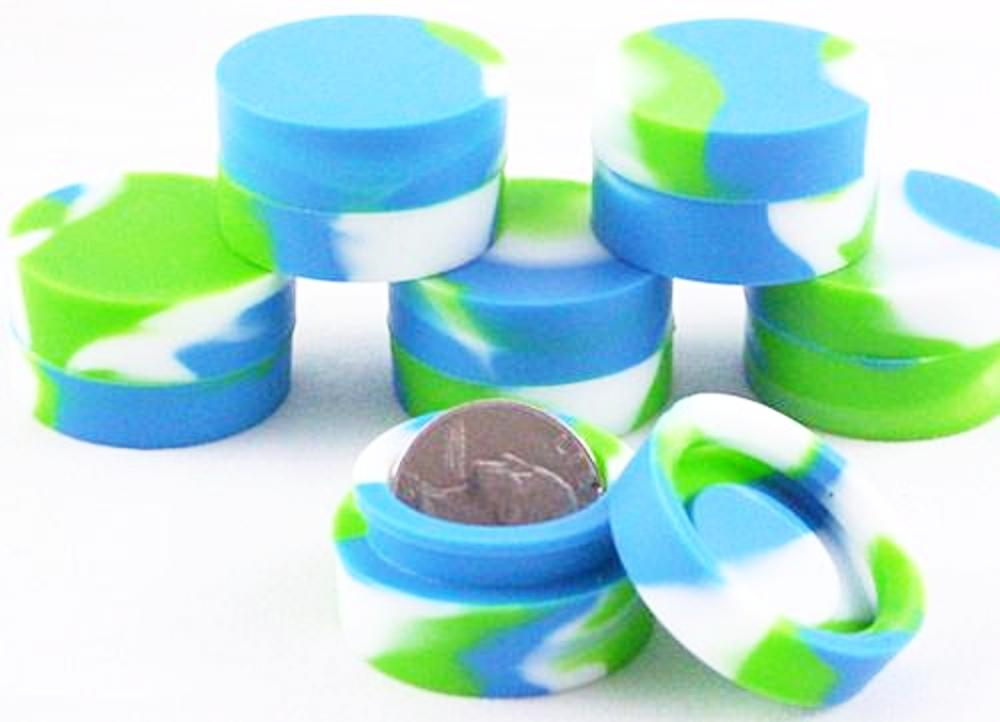 non stick silicone container (green,blue, and white)