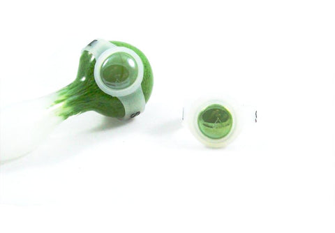 Glass Pipe Bowl Saver (save-a-bowl) - green glass save-a-bowl