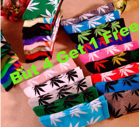 Cannabis Leaf Tube Socks