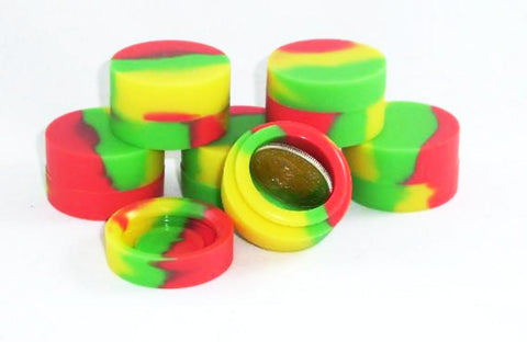 Single 35mm Non Stick Silicone Container(Rasta)