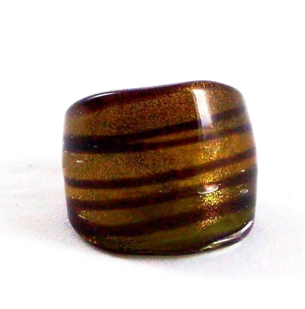 Dark Red Spiral Glass Ring