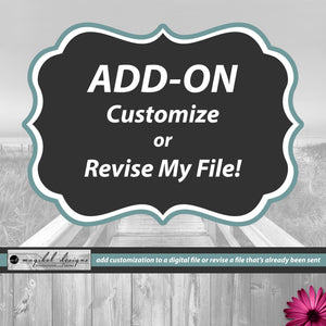 Add-On Customize or Revise