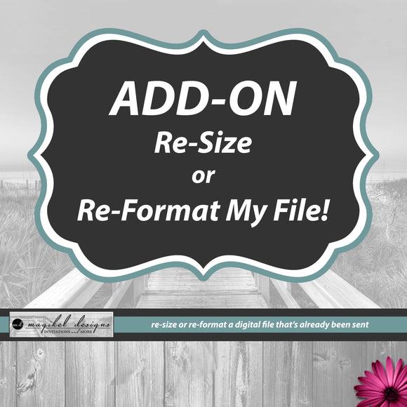 Add-On Resize or Reformat