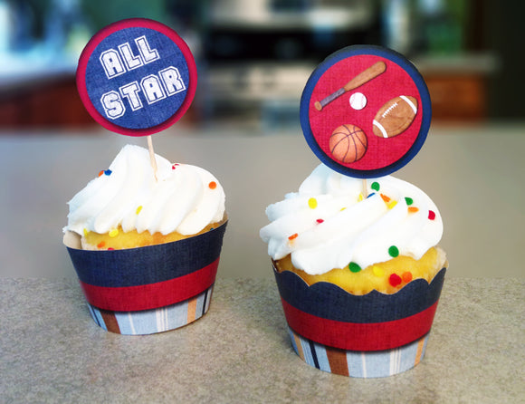 All Star Cupcake Wrappers