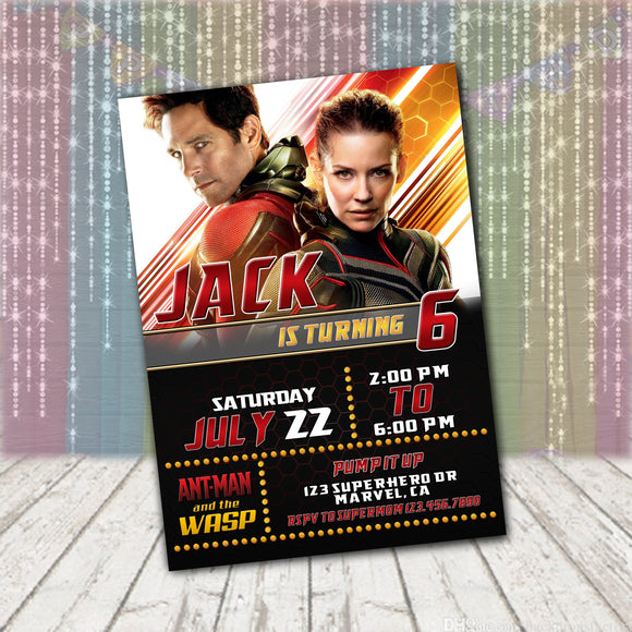Antman & Wasp Invitation
