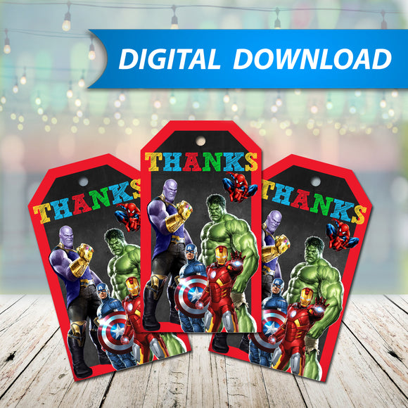 Avengers Favor Tags
