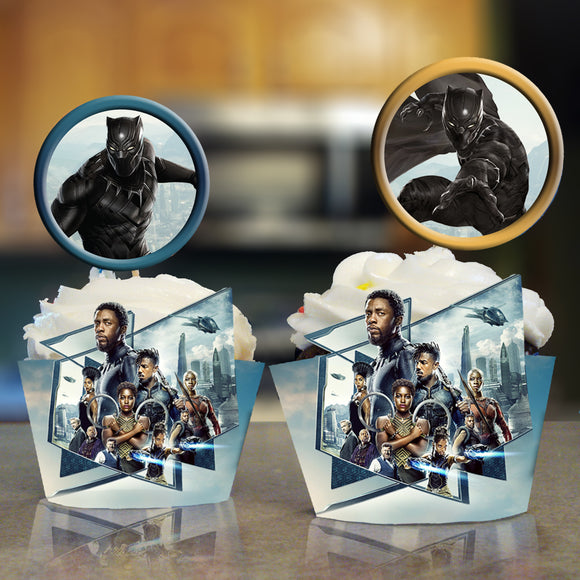 Black Panther Cupcake Wrappers