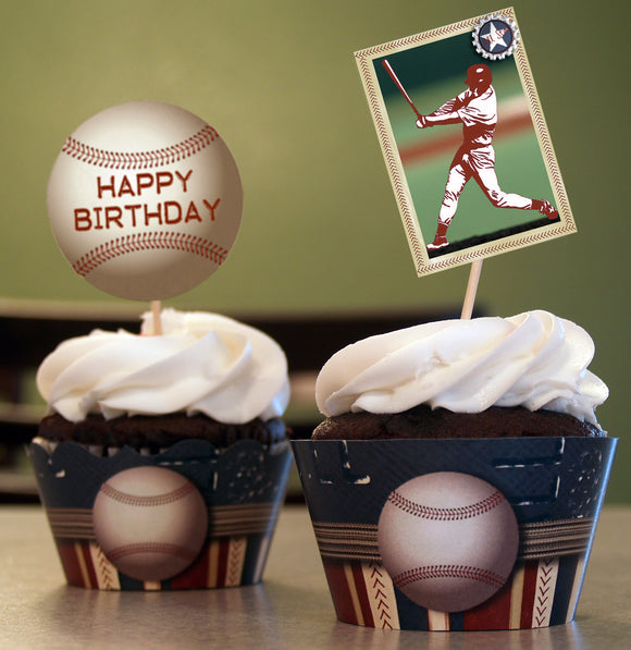 Baseball Cupcake Wrappers
