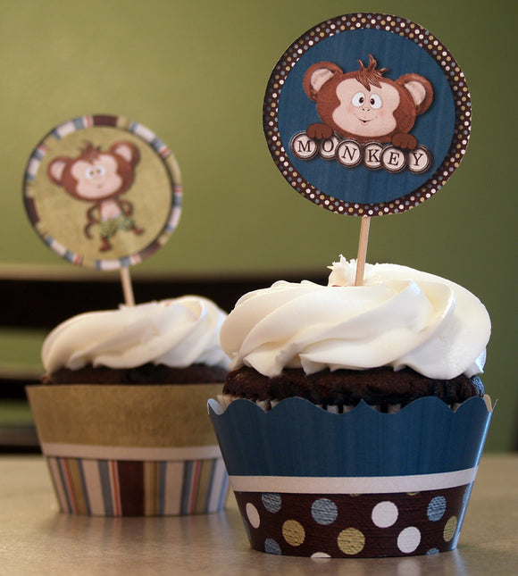 Monkey Cupcake Wrappers